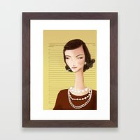 Icons / Coco Framed Art Print