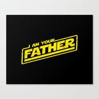 I Am Your Father (yellow… Canvas Print