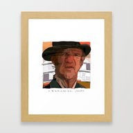 Framed Art Print featuring Hackman by Tony Rodriguez