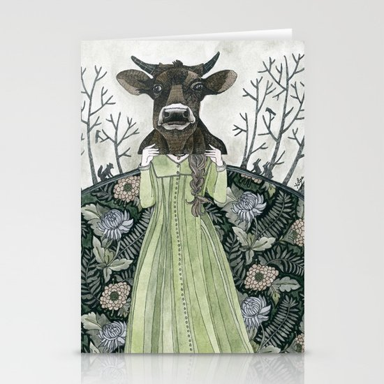 Cow Mask Stationery Card