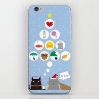 Santa Cat iPhone & iPod Skin