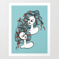 Ramen Girls Art Print