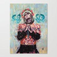 Portrait Of Rick Genest … Canvas Print