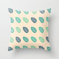 Leaf Value Pattern Throw Pillow