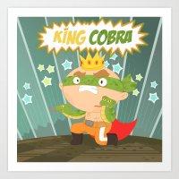 The Ruthless Kingcobra Art Print