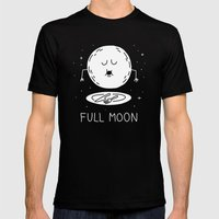Full Moon Mens Fitted Tee Black SMALL