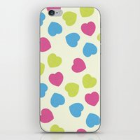 Love Hearts iPhone & iPod Skin