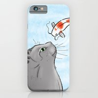 iPhone & iPod Case featuring Koi and Cat by Eric Weiand
