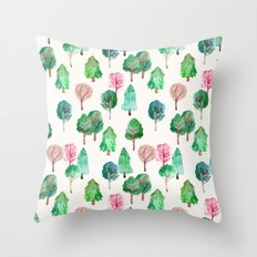 Little Trees Throw Pillow
