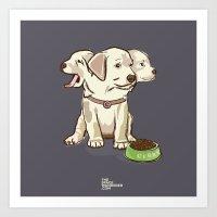 Cerberus Puppy Art Print