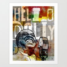 Louis Armstrong: Hello Dolly! Art Print