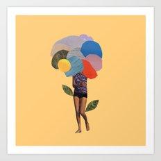 i dream of you amid the flowers Art Print