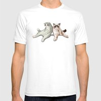 Grumpy Friend Mens Fitted Tee White SMALL