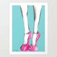 Giuseppe Zanotti Shoes Art Print