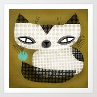 SPOTTED SIAMESE Art Print