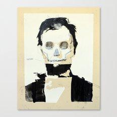 Abraham Lincoln (skull) Canvas Print
