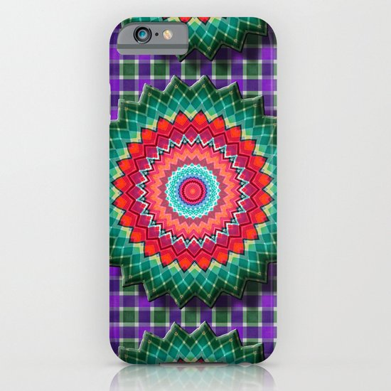 Plaid Flower iPhone & iPod Case