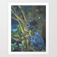 Dawn Chorus In The Prime… Art Print