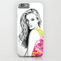 iPhone & iPod Case featuring French Summer 3 by Libby Watkins Illustration