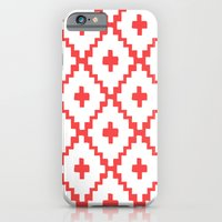 iPhone & iPod Case featuring Navajo Diamonds Red by fable design