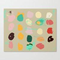 Tops Of Ice Cream Cones … Canvas Print