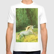 Horsey Business. SMALL White Mens Fitted Tee
