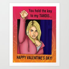 Rose Tyler - You Hold The Key To My TARDIS Art Print