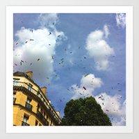 Paris Confetti Art Print