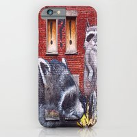 iPhone & iPod Case featuring Raccoons  by Ethna Gillespie