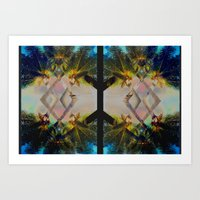Overlapping Palms Art Print