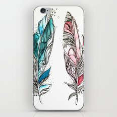 You & Me Feathers iPhone & iPod Skin