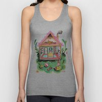 Rebecca Rabbit, Her House, and Her Belongings Unisex Tank Top