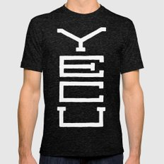 Yecu Mens Fitted Tee Tri-Black SMALL