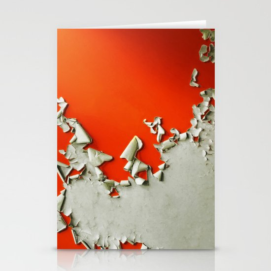 Orange Paper Peel Stationery Card