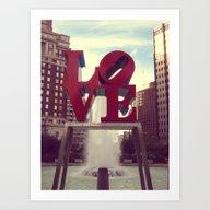 Love Park Philadelphia S… Art Print