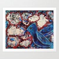 This Bird Is Blue Art Print