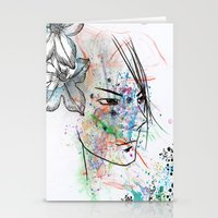 anime Stationery Cards featuring Anime 3  by Del Vecchio Art by Aureo Del Vecchio
