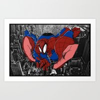 Spidey and the City Art Print