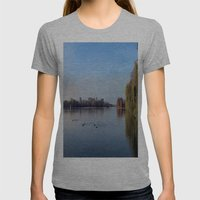 Panorama - Lake In Autum… Womens Fitted Tee Athletic Grey SMALL
