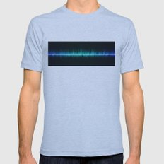 blue color sound waves beat music volume Mens Fitted Tee Athletic Blue SMALL