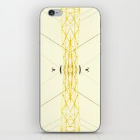 Yellow Structure iPhone & iPod Skin