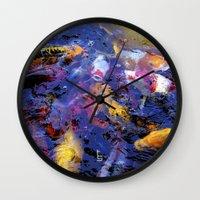 Koi Frenzy I Wall Clock