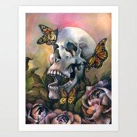 Laughing Skull Art Print