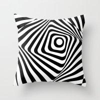 Zebra Op Throw Pillow