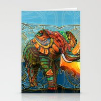 elephants Stationery Cards featuring Elephant's Dream by Waelad Akadan