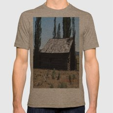 An old time cabin Mens Fitted Tee Tri-Coffee SMALL
