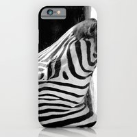 iPhone & iPod Case featuring b&w zebra by Cindy Munroe Photography