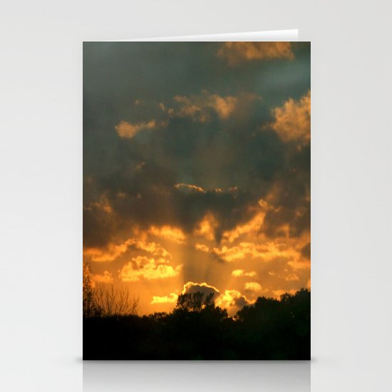 Cloud Interference  Stationery Card