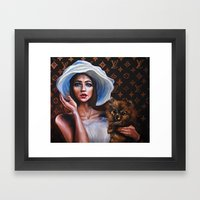 Doll Face Framed Art Print