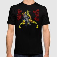 Scud The Disposable Assassin: Jesus with a Laser Gun! Black Mens Fitted Tee SMALL